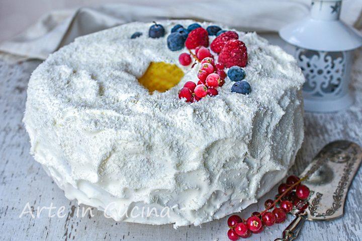 Chiffon cake di Capodanno dolce delle feste
