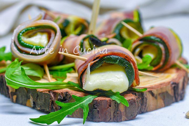 Involtini di pancetta e zucchine antipasto veloce
