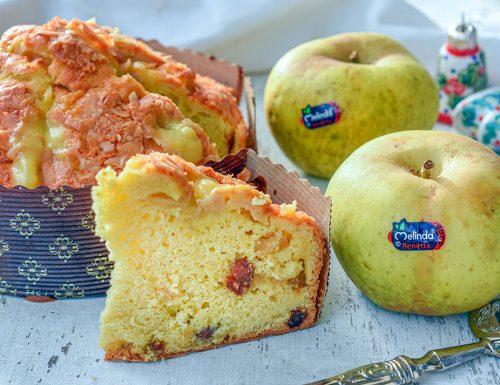 Panettone veloce della nonna alle mele e crema