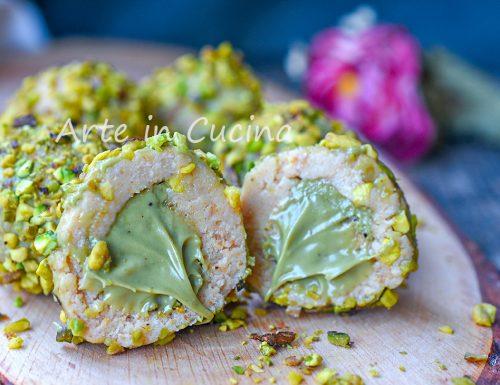 Tartufini al pistacchio veloci senza cottura