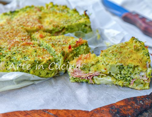 Tortino di broccoli veloce e leggero