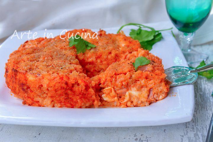 Tortino di riso avanzato al forno con ragù e besciamella