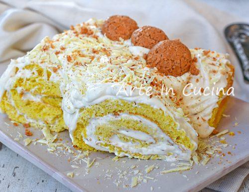 Tronchetto al cioccolato bianco e amaretti