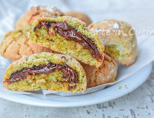 Amaretti pistacchio e nutella biscotti veloci