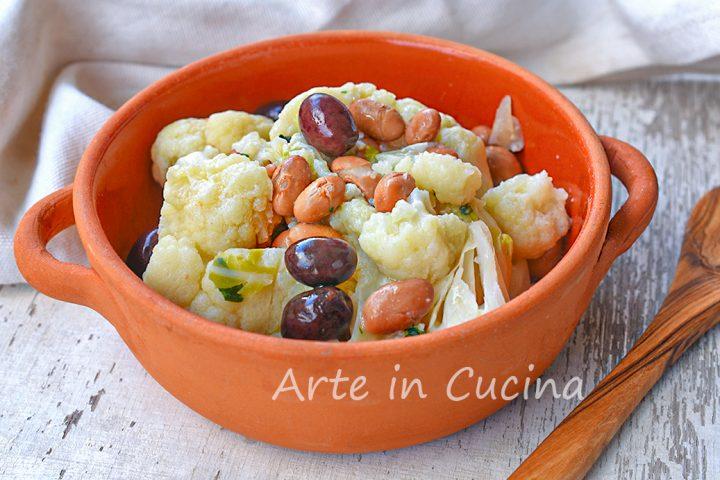 Cavolfiore con fagioli all'insalata