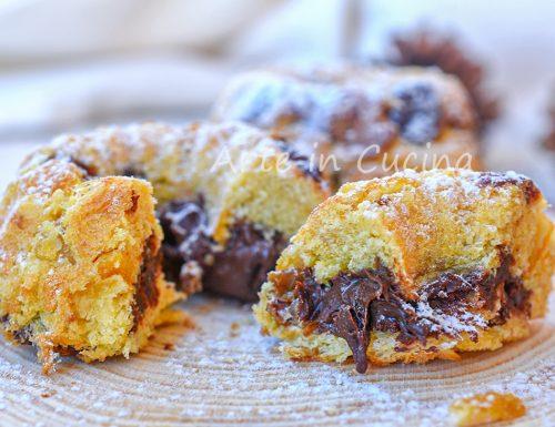 Ciambelline di panettone con nutella dolcetti veloci