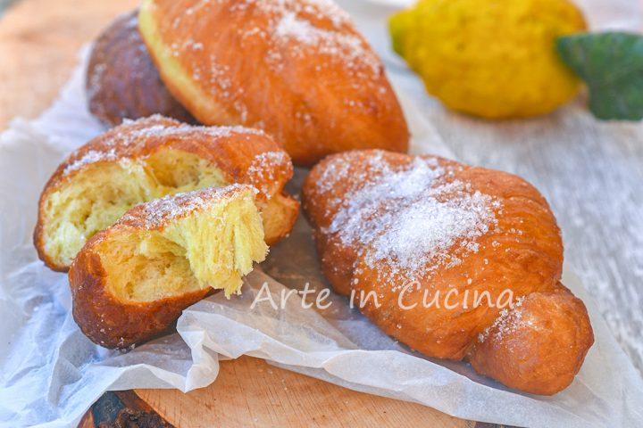 Graffette annodate al limone dolci carnevale