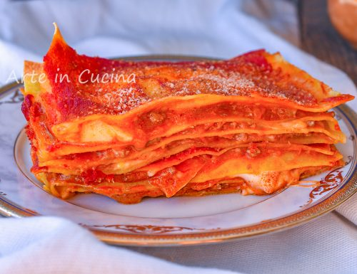 Lasagna con zucca e ragù