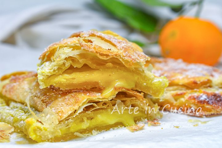 Lingue procidane all'arancia dolci alla crema
