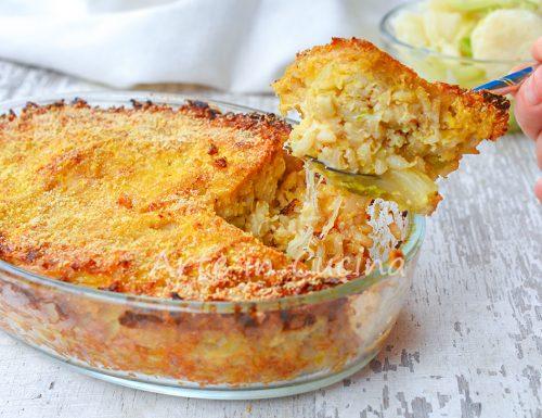 Riso e cavolfiore gratinato al forno ricetta leggera