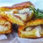 Cannoli di pancarrè con pancetta veloci