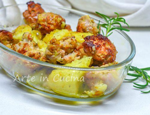 Salsiccia e patate gratinate al forno
