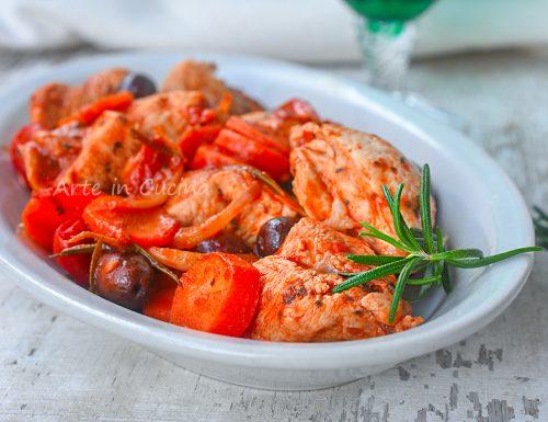 Bocconcini di pollo alla mediterranea