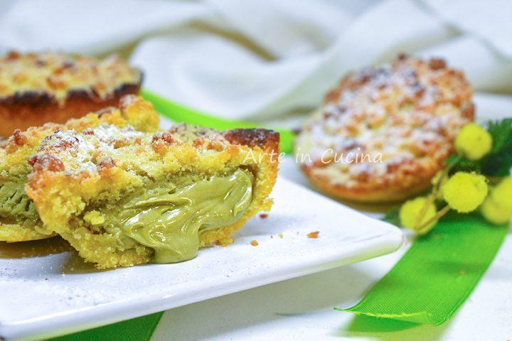 Mimose al pistacchio dolcetti veloci