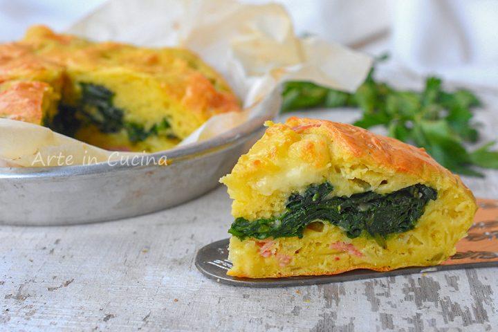 Torta salata veloce con spinaci e patate