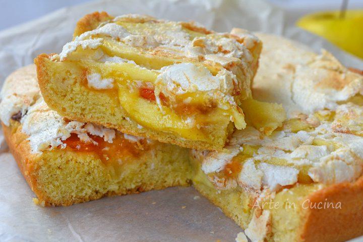Crostata slava con mele dolce meringato veloce