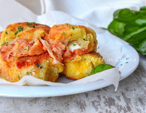 Cannoli di patate alla pizzaiola morbidissimi