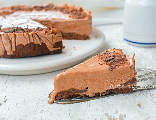 Cheesecake al cioccolato e pan di stelle