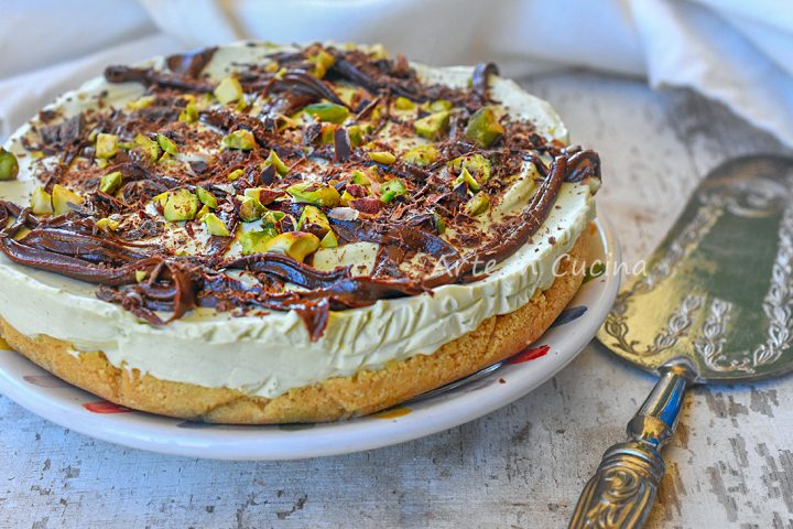 Cheesecake pistacchio e nutella