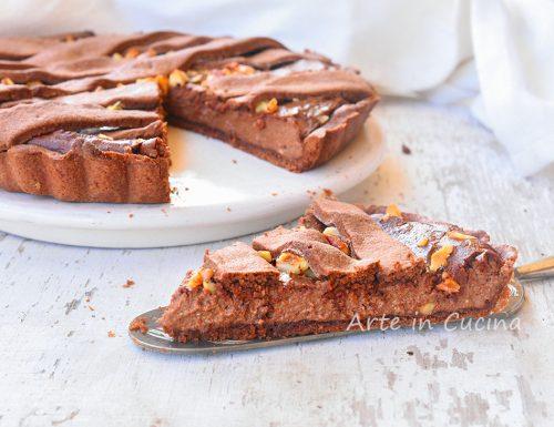 Crostata cioccolato e noci cremosa