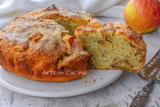 Torta ricotta mele e noci senza uova