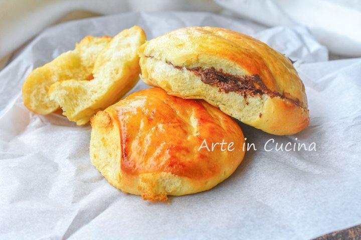 Brioche al vapore panini cinesi con nutella
