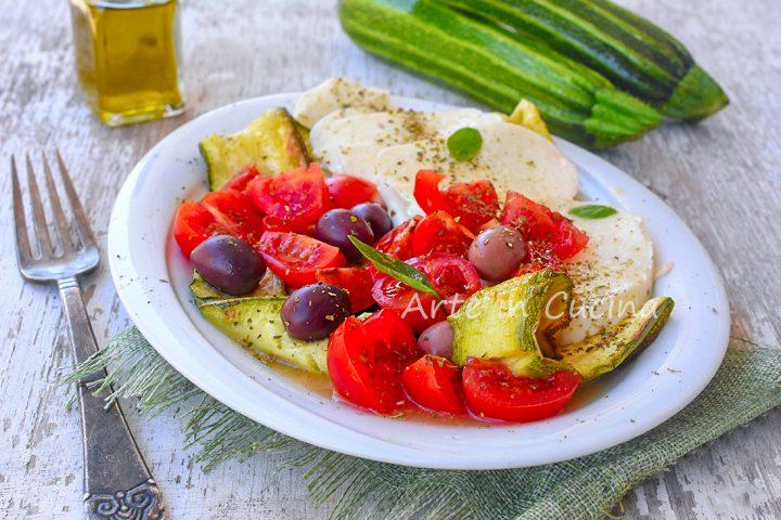 Caprese con zucchine ricetta light