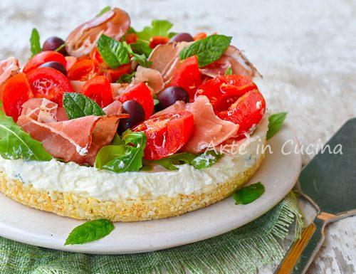 Cheesecake speck e rucola salata e fredda