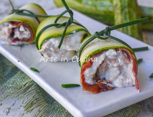 Involtini di zucchine tonno e bresaola freddi