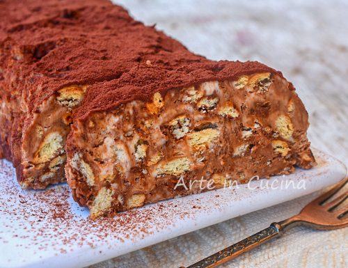 Mattonella con biscotti cioccolato e mascarpone