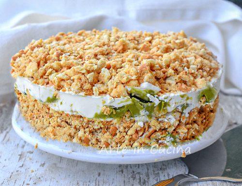 Sbriciolata pistacchio mascarpone e ricotta torta fredda