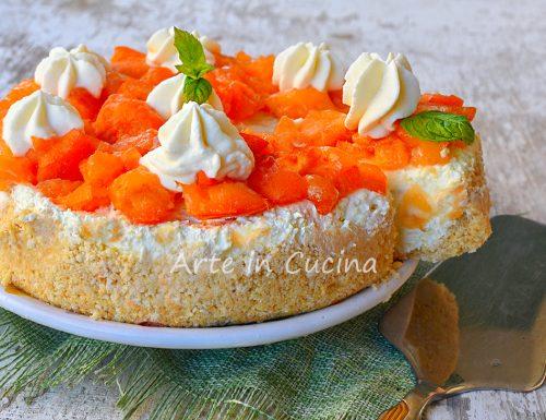 Cheesecake alle albicocche torta fredda