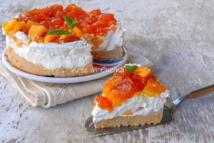 Cheesecake pesche e marmellata