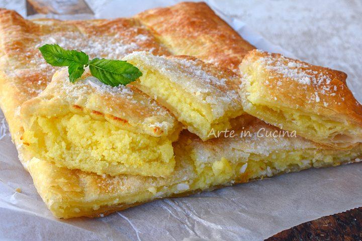 Cheesecake con sfoglia cocco e limone