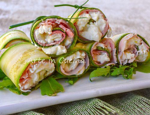 Involtini di zucchine e prosciutto senza cottura