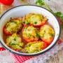 Pomodori al gratin ripieni di zucchine