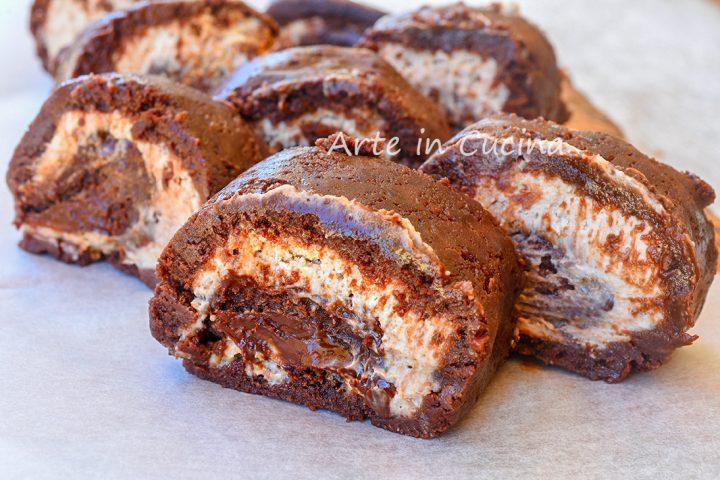 Rotolo pan di stelle nutella e mascarpone