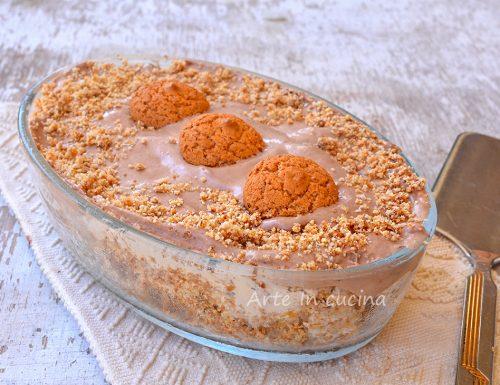 Semifreddo con sbriciolata di amaretti alla nutella