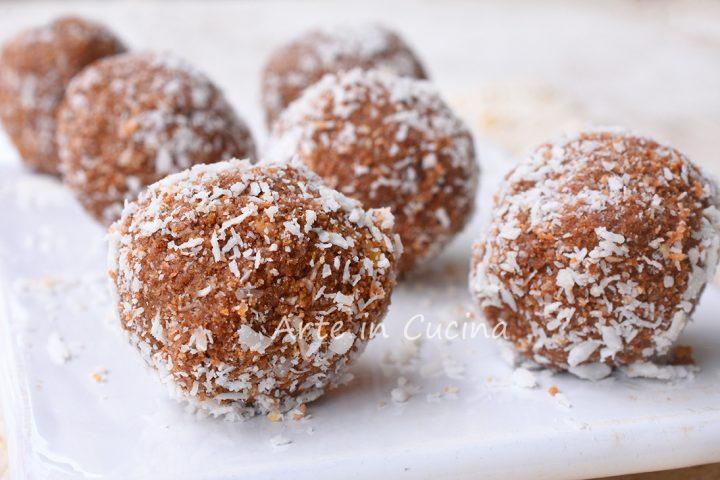 Tartufini nutella e cocco dolcetti freddi veloci