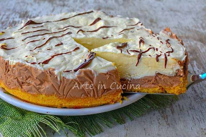 Torta nutella e vaniglia dolce veloce