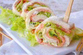 Girelle al salmone antipasto veloce freddo