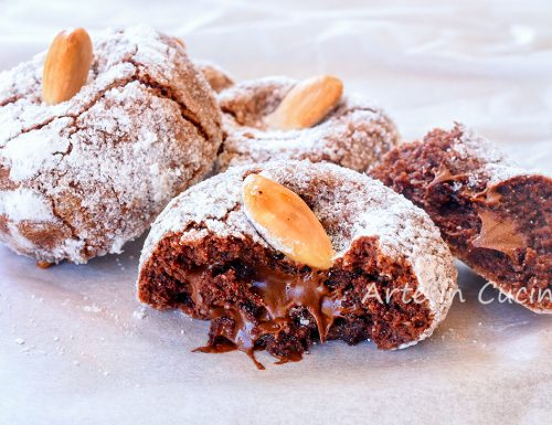 Mandorlette al cacao e nutella