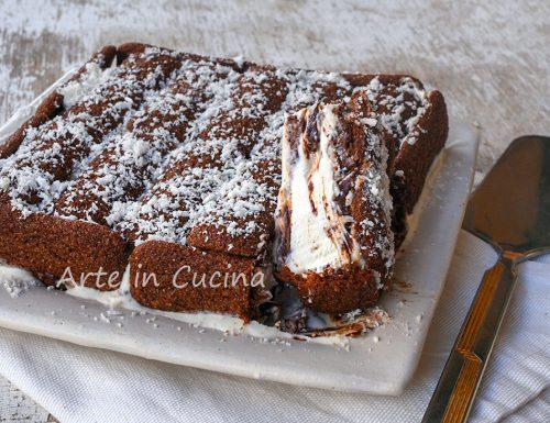 Torta di pavesini gelato con nutella