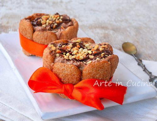 Tortine fredde alla nutella con pavesini