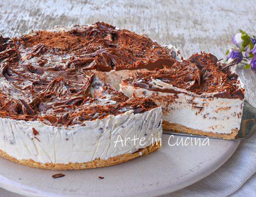 Cheesecake stracciatella e nutella