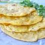 Sfoglie di pane alla zucca senza lievito