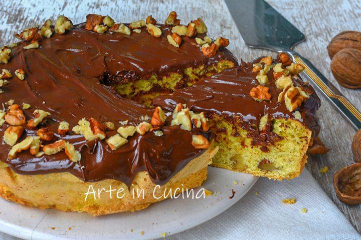 Torta noci e nutella dolce autunnale