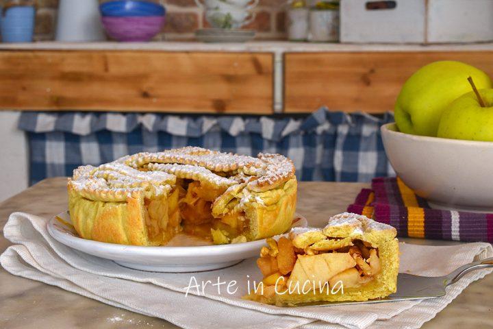 Crostata mele cannella e noci senza burro