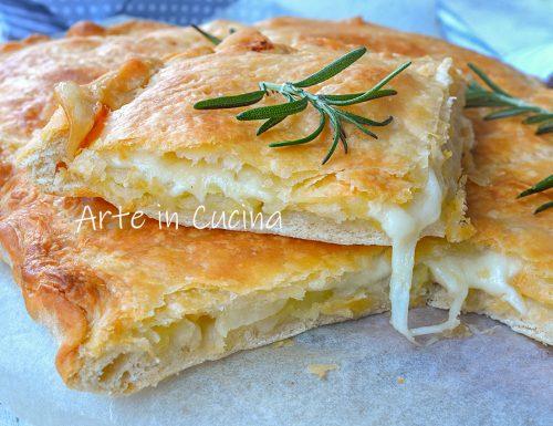 Parigina con patate pizza bianca veloce