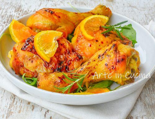 Pollo all'arancia al forno alla siciliana